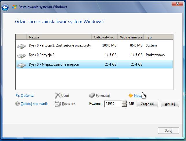Rozwiązany] reinstalacja + format windows 7 poprzez zbotowanego.